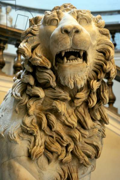 Statue of lion, Early 2nd century AD, From a funerary monument, Italy