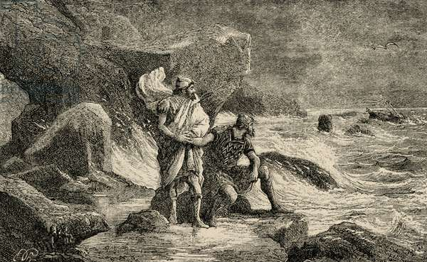 Hanno the Navigator (c.500 BC). Engraving.