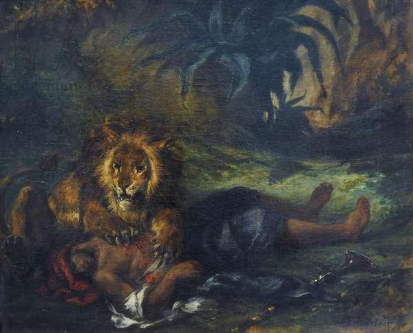 Lion mauling a Dead Arab, 1847