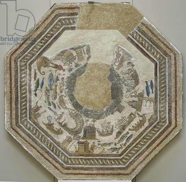 Roman mosaic, Port scenes, from Vega Baja de Toledo, 3rd -4th century
