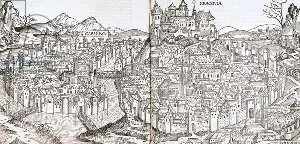 Poland. Krakow,16th century (engraving)