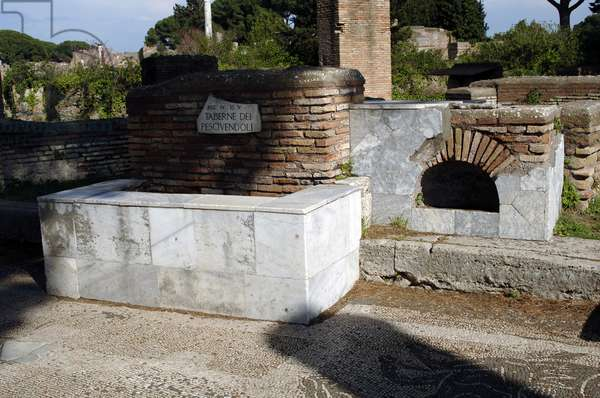 Ostia Antica. The Shops of Fishmongers. 3rd century AD. Italy.