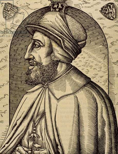 Portrait of Charles V, Holy Roman Emperor (1500-1558) (engraving)