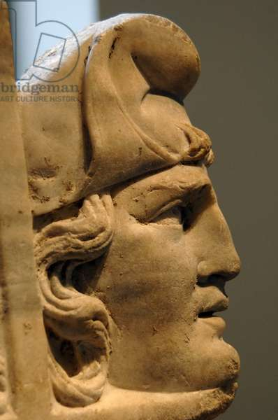 Roman art. Fragmentary marble sarcophagus with scenes from the Oresteia. 2nd century. Detail.