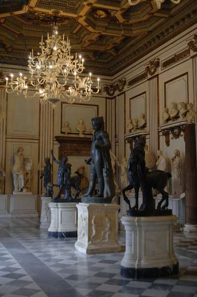 Capitoline Museums. Hall of the Philosophers. Rome. Italy.