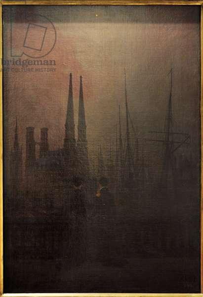 Caspar David Friedrich (1774-1840). Night in a Harbour (Sisters), 1818-1820.