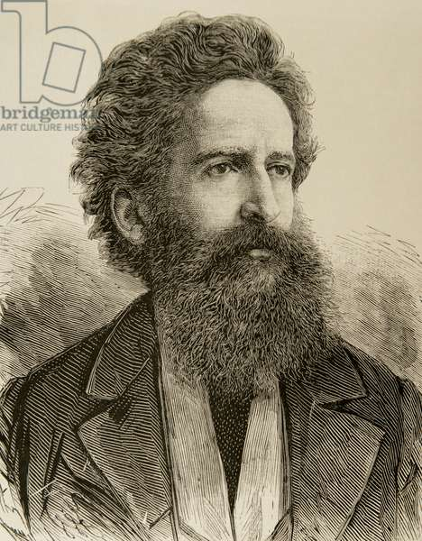 Hans Makart (1840 – 1884). Austrian academic history painter, designer, and decorator, Engraving.