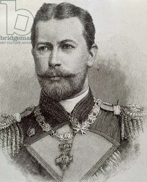 Portrait of Prince Henry of Prussia (1862-1929) (engraving)