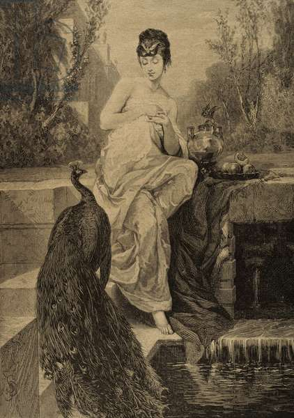 Helen of Troy. Engraving.