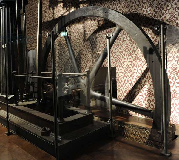 Thomas horn's steam engine. Built around 1850 by the Thos. Horn Engineer firm in London.