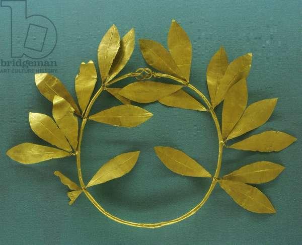 Greek Art. Laurel Wreath. Gold. Late 4th century B.C.