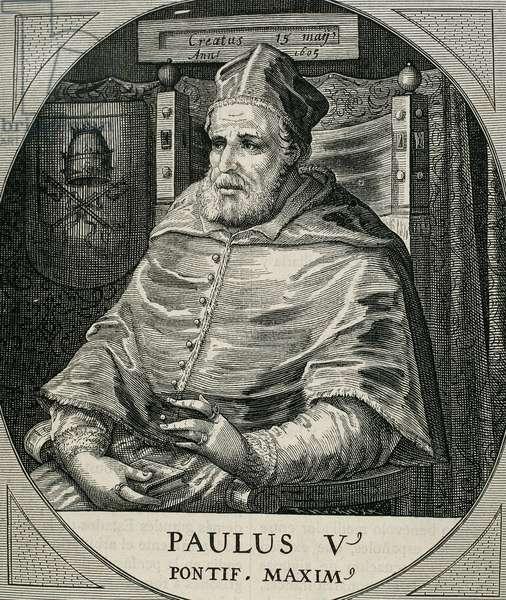 Paul V (Rome ,1552-Rome, 1621. Italian Pope (1605-21), named Camillo Borghese.