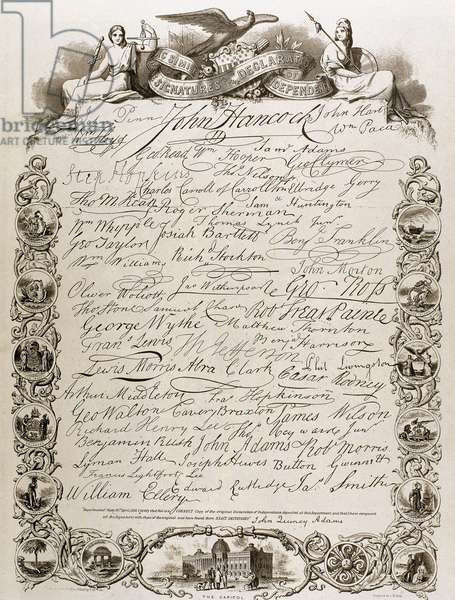 The United States Declaration of Independence. (July 4, 1776). Facsimile.