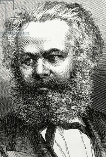 Karl Marx (1818-1883). German Philosopher, political economist and communist. Portrait.