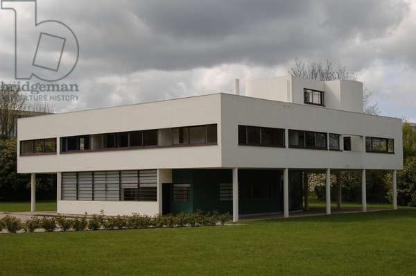 France. Poissy. Villa Savoye. Designed by Swiss architects Le Corbusier. 1928-1931.