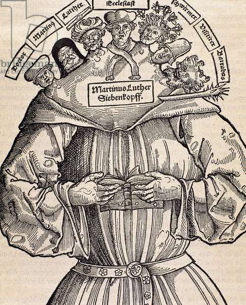 Protestant Reformation.  Satire against Martin Luther (1483-1546).