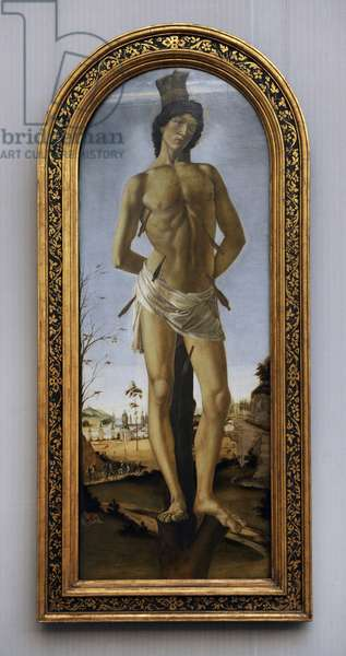 Saint Sebastian, 1474, by Sandro Botticelli (1445-1510).