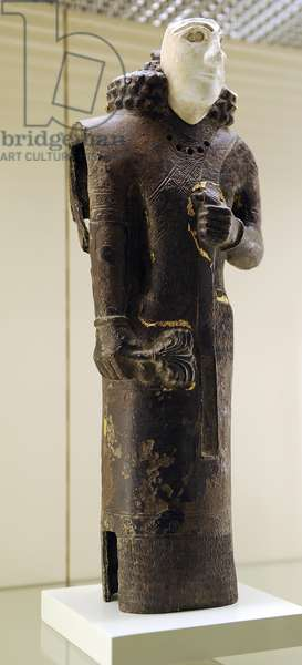 Urartu civilization. Statue. male figure. From Tushpa or Toprakkale. 7th century B.C. Turkey. Pergamon Museum. Berlin. Germany.