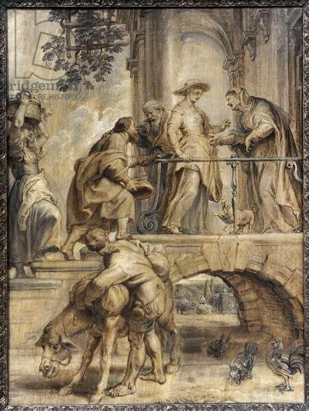Visitation of Virgin Mary, 1632-1634, by Peter Paul Rubens (1577-1640).