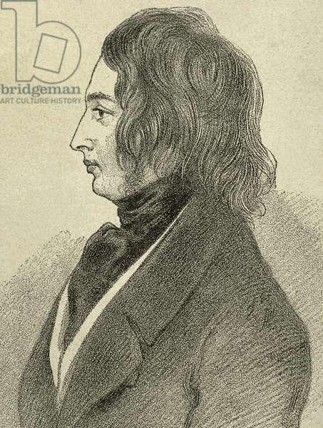 Charles Dickens (1812-1870). British novelist. Drawing.