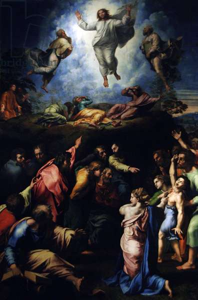 The Transfiguration of Christ, 1516-1520, by Raphael (1483-1520).