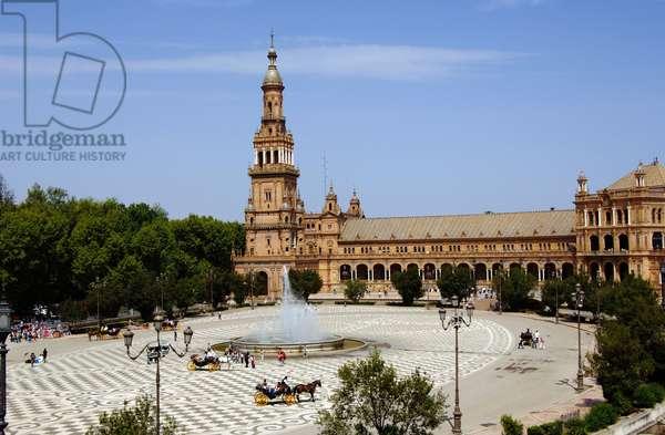 Plaza de España, Parque de María Luisa, Seville, Andalusia, Spain (photo)