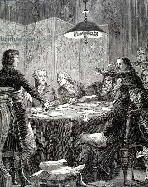 The Committee of Public Safety, created in April 1793 (engraving)