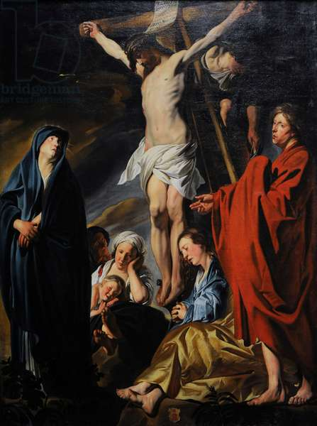 Crucifixion, ca.1617-1620, by Jacob Jordaens (1593-1678).