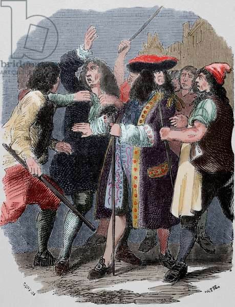 John Law (1671-1729). Scottish economist. Controller General of Finances of France under King Louis XV. COLOURed engraving. United Kingdom