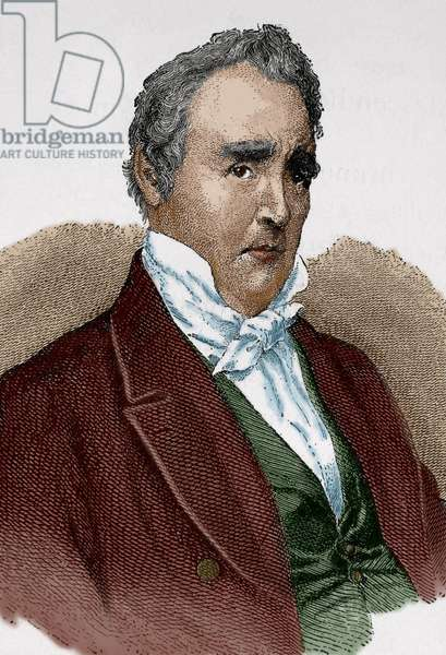 James Buchanan (1791-1868). Colored engraving.