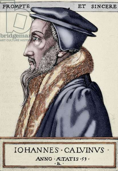 John Calvin (1509 1564). French theologian and pastor during the Protestant Reformation.
