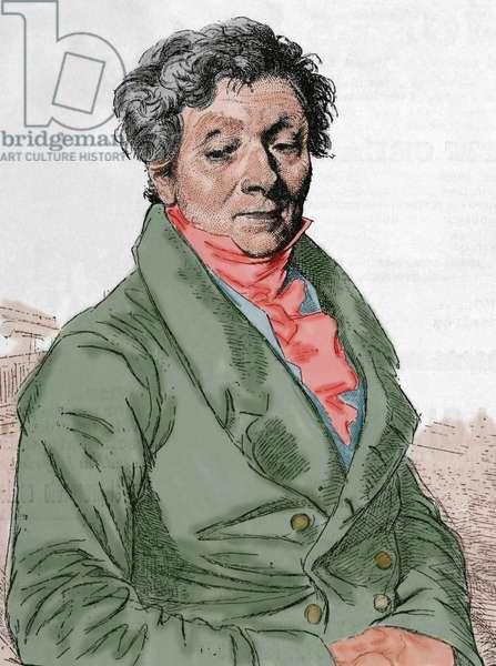 Louis Pierre Henriquel-Dupont (1797-1892). Engraving. Colored.