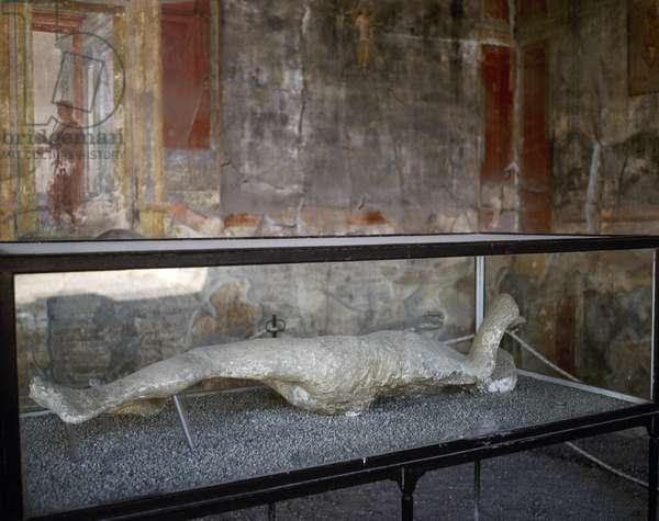 Pompeii, Ancient roman city, Plaster casts of victims' bodies, Campania, Italy