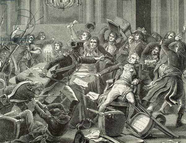 Thermidorian Reaction. Ninth Thermidor. 27 July 1794. Result. End of the Reign of Terror (engraving)