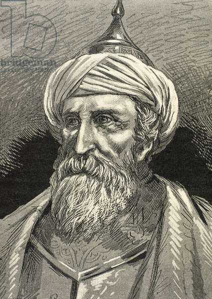Muezzinzade Ali Pasha (d. 1571). Ottoman statesman and naval officer. Portrait (engraving)