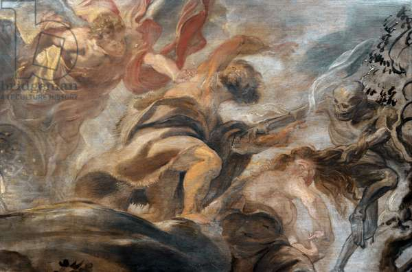 Expulsion from the Garden of Eden, 1620, by Peter Paul Rubens (1577-1640).