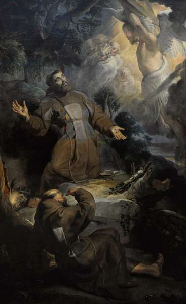 The Stigmatisation of Saint Francis, 1615-1616, by Peter Paul Rubens (1577-1640).