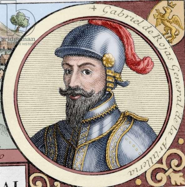 Gabriel de Rojas Cordova (coloured engraving)