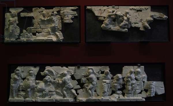 Frieze of the Basilica Emilia. Roman National Museum. Italy.