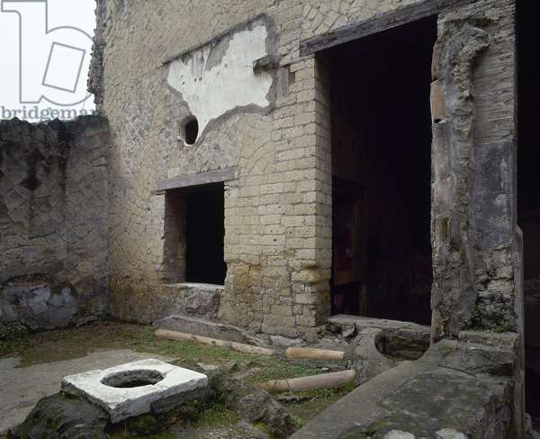 Italy. Herculaneum.  House of the wooden partition wall.