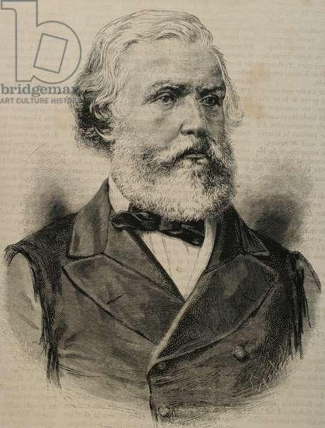 Austen Henry Layard (1817-1894). English archaeologist. Engraving.