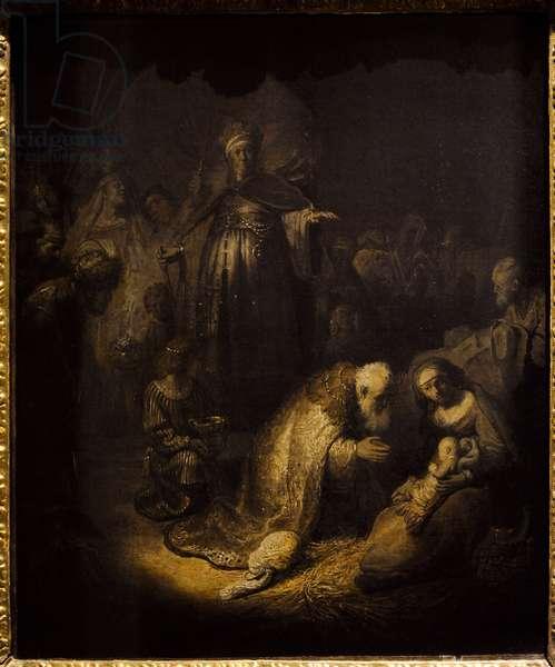 Rembrandt Harmenszoon van Rijn (1606-1669). Adoration of the Magi, 1632.
