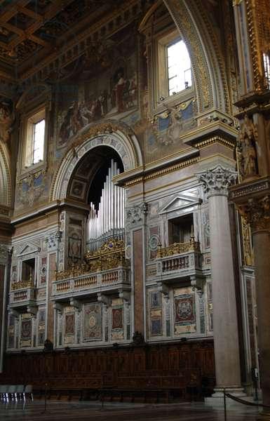 Italy. Rome. Archbasilica of Saint John Lateran. Interior.