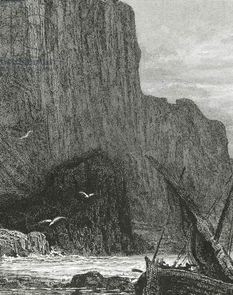 Idylls of the KIng, 1559-1885 by English poet Lord ALfred Tennyson (1809-1892), by Gustave Dore? (engraving)