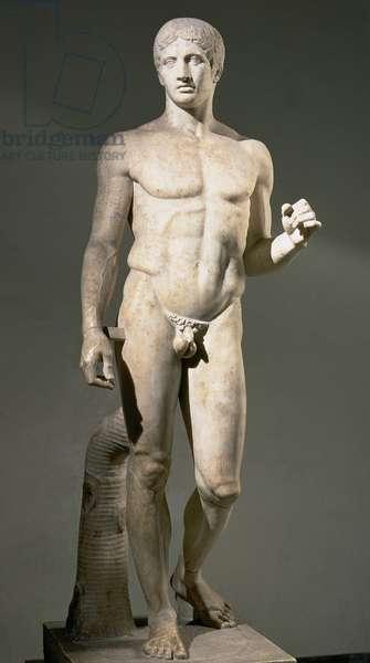 Doryphoros, copy of a Greek original by Polykleitos (marble)
