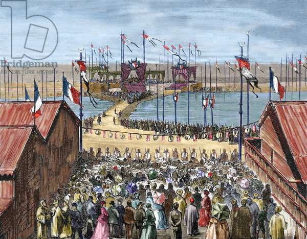 Egypt. Isthmus of Suez. Blessing of the Suez Canal in Port Said.