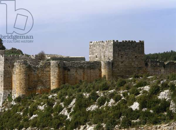 Syria. Citadel of Salah Ed-Din or Saladin Castle. Near Al-Haffah.  Near Al-Haffah. Near East.