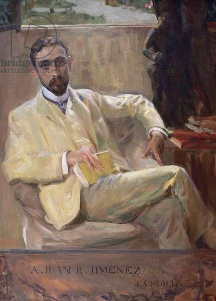 Juan Ramon Jimenez (oil on canvas)