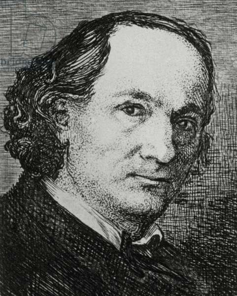 Charles Pierre Baudelaire (1821-1867). Portrait (engraving)