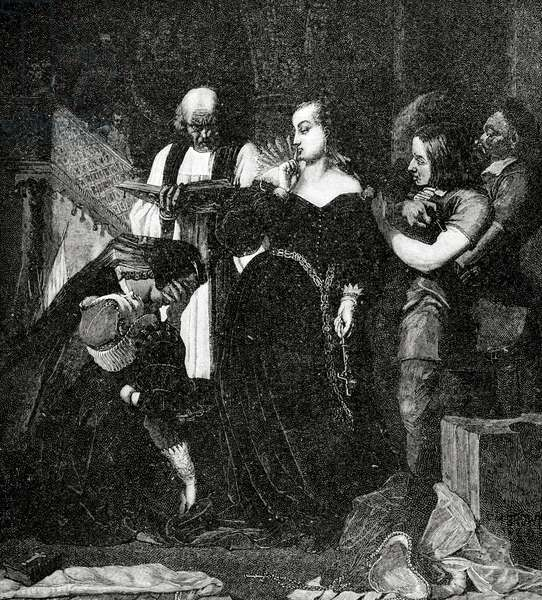 Execution of the Queen MaryQueen of Scotland (1542-1587) and Queen consort of France. Engraving, 1885.